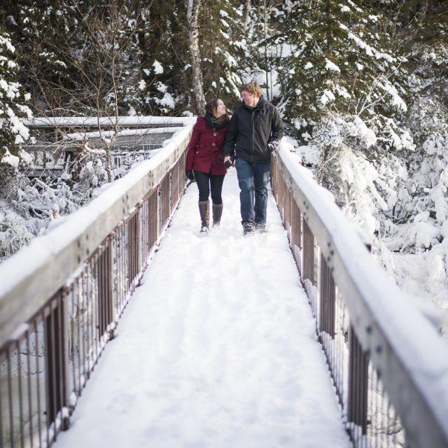 Andrea & Ed Winter Engagement Terrace Bay by Dan Garrity Media Thunder Bay Photographer